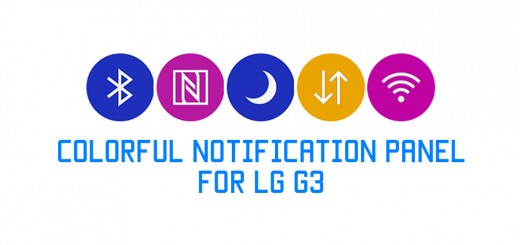 colorful notification panel g3