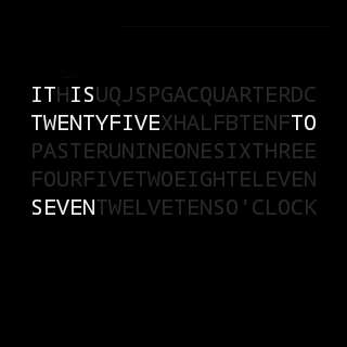 text-watchface