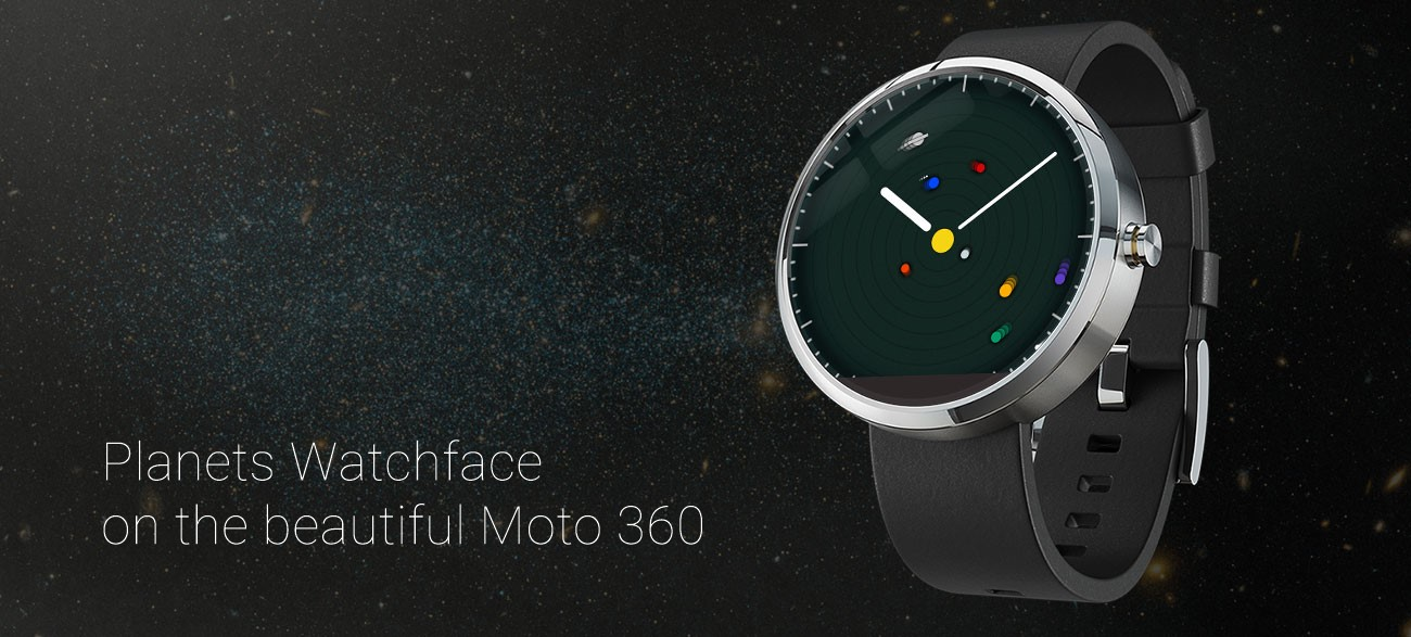 Planets Watchface on Moto 360