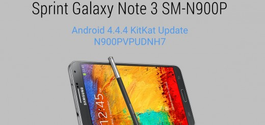 Sprint Galaxy Note 3 Android 4.4.4 KitKat N900PVPUDNH7 Update