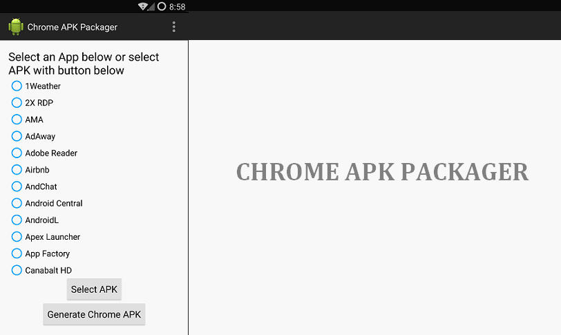 Convert Android Apps into Chrome Extension easily with Chrome APK
