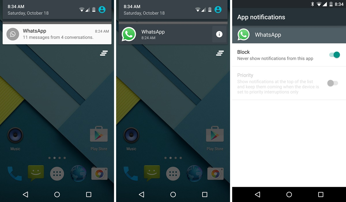 Managing App Notifications on Android 5.0 ...