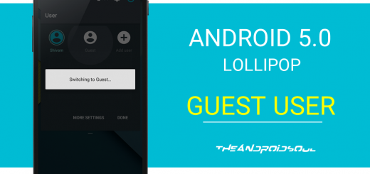 Android 5.0 Lollipop Guest User Mode