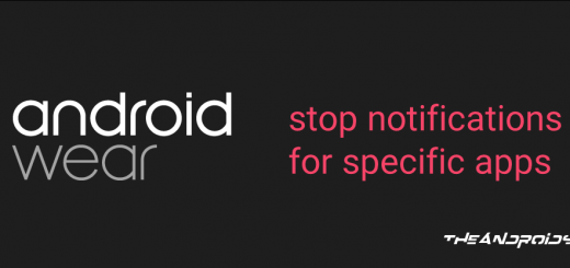 Android Wear Stop Notifications for Specific Apps