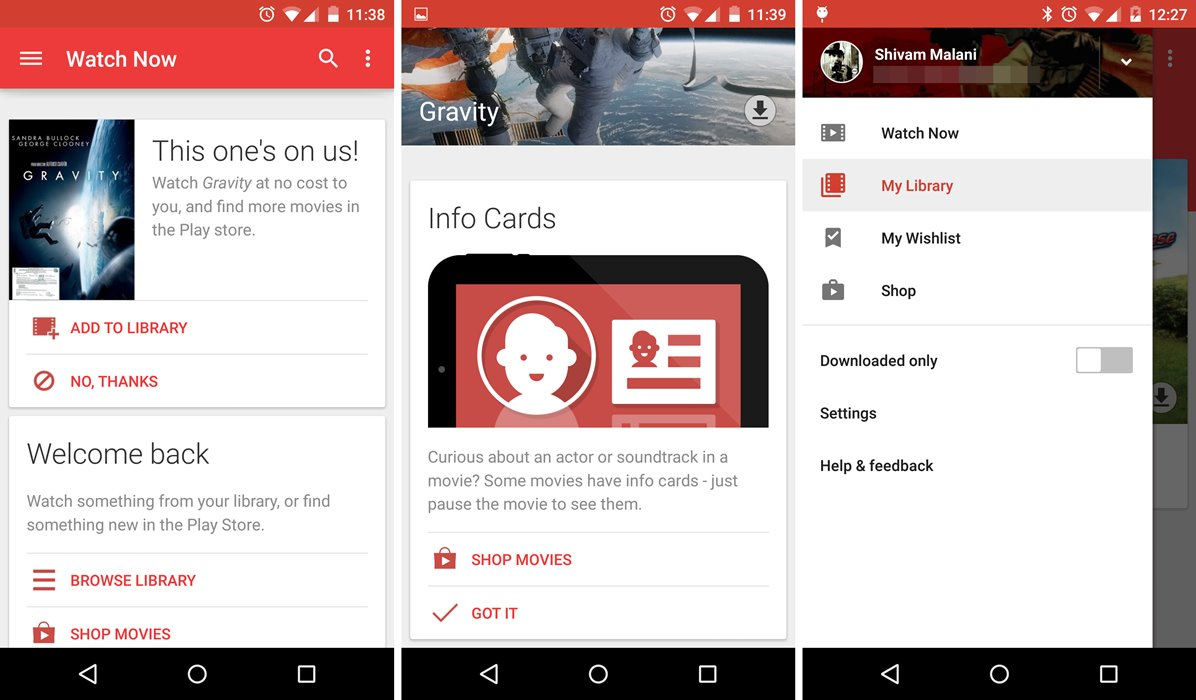 Google Play Movies & TV app v3.5.14