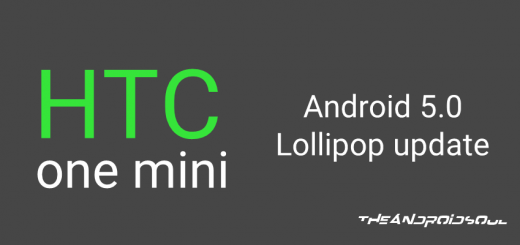 HTC One Mini Android 5.0 Lollipop Update
