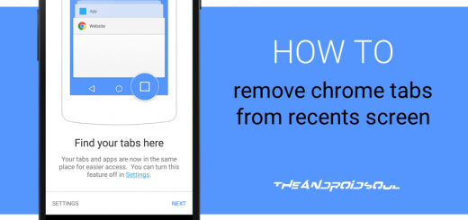 Remove Chrome Tabs From Recents Screen