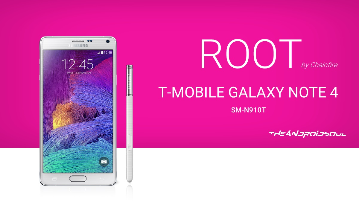 Root T-Mobile Galaxy Note 4 SM-N910T using CF Auto Root