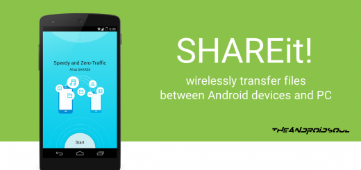 SHAREit app -- theandroidsoul.com