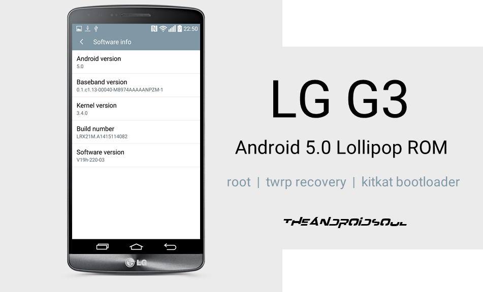 LG G3 Android 5 0 Lollipop ROM with Root and SuperSU