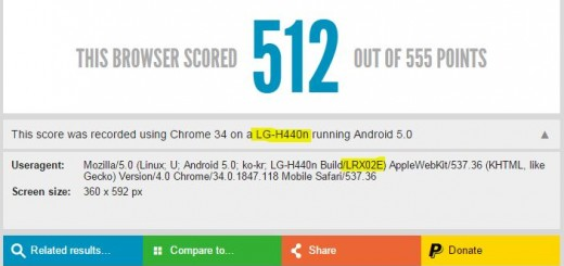 LG-H440 running Android 5.0 spotted