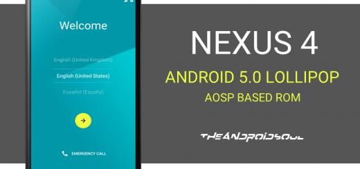 Nexus 4 Android 5.0 ROM (AOSP)