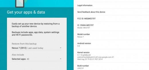 Nexus 7 2012 Android 5.0 Lollipop