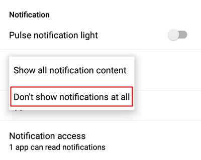 Remove lock screen notification