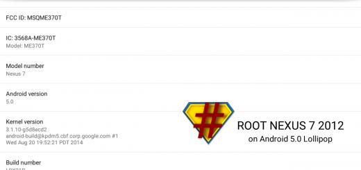 Root Nexus 7 2012 on Android 5.0 Lollipop