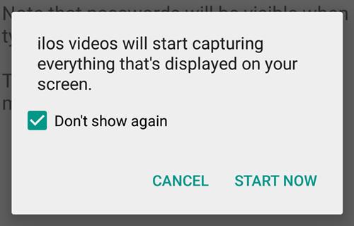 Screen recording permission