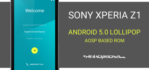 Xperia Z1 Android 5.0 Lollipop (AOSP)
