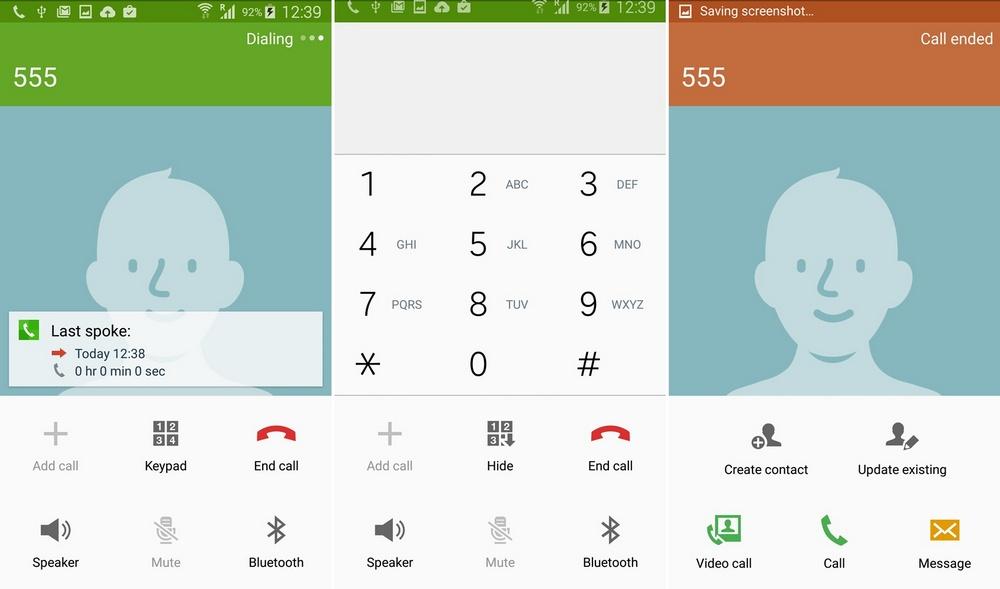 Galaxy S5 Lollipop Update Dial Screen