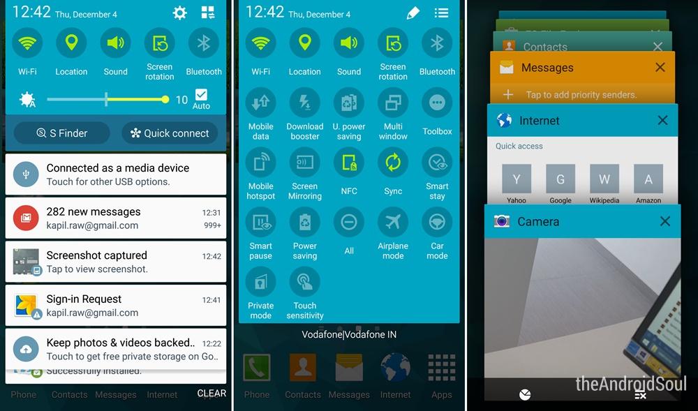 Galaxy S5 Lollipop Update TouchWiz 2