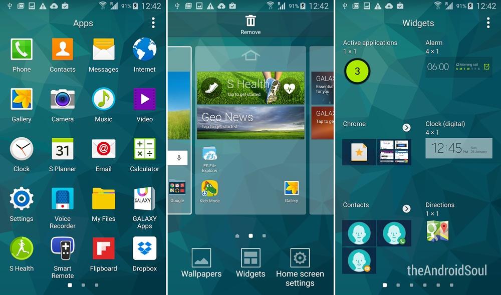 Galaxy S5 Lollipop Update TouchWiz