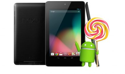 Android 5.0.2 Update Releases for Nexus 7 (WiFi) 2012