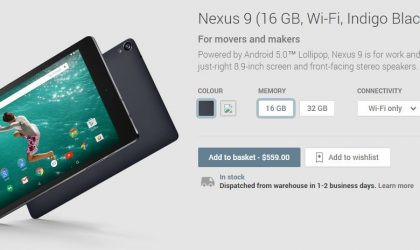 Google Nexus 9 and Chromecast now selling through Play Store in New Zealand and Taiwan
