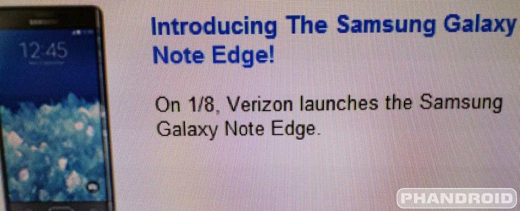 Verizon Galaxy Note Edge Release Date