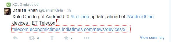 Xolo One Lollipop Update