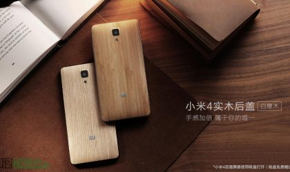 Xiaomi Mi4 Wooden Back Covers Price set at 69 yuan. Look Fantabulous!
