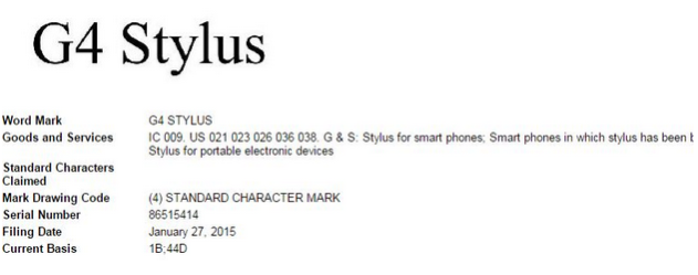 LG G4 Stylus spotted in documents, will be a mid-range device