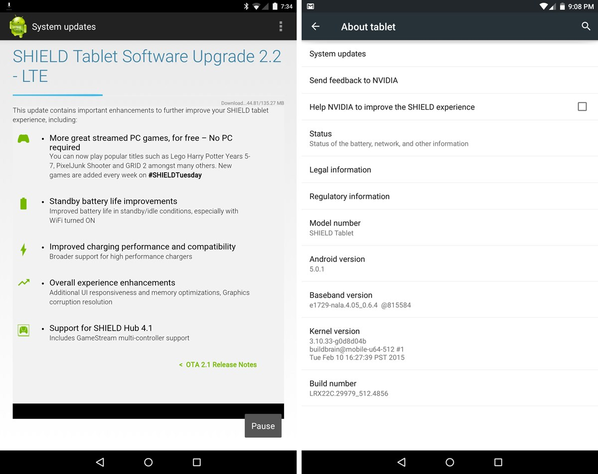 Nvidia Shield Tablet Update 2.2 arives, adds more streamed ...