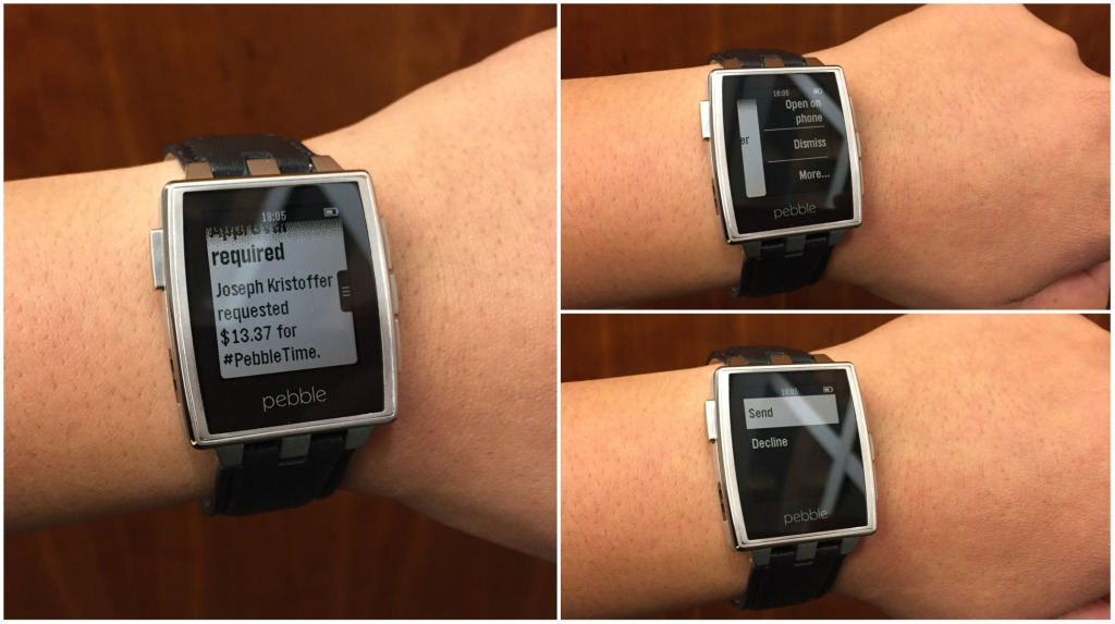 Cheers!] Pebble now supports Android Wear apps