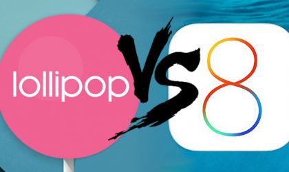 Report: Android 5.0 Lollipop crashes less apps than iOS 8 does
