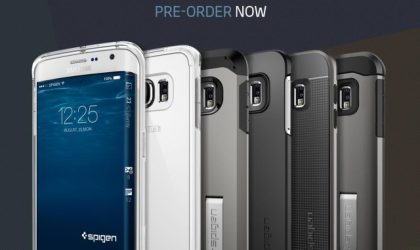 Spigen's Galaxy S6 Edge cases now available for pre-order, renders show only a single curved edge