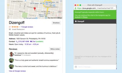 Google brings Hangouts to Search, lets users chat directly with businesses