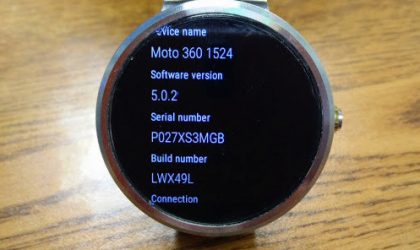 Moto 360, Gear Live and G Watch R receiving Android Wear 5.0.2 update