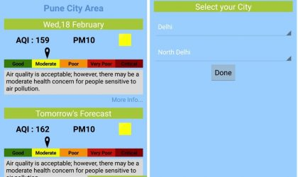 "Delhi and Pune Citizens can now check the air-quality using ""SAFAR-Air"" app"
