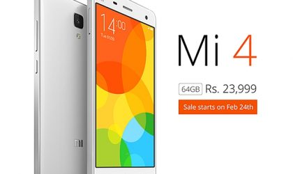Xiaomi Mi4 64GB Price and Release Date announced for India