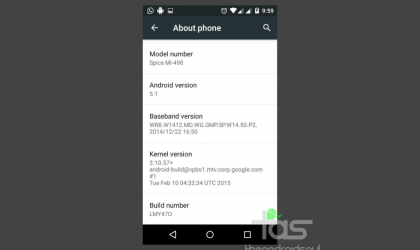 Download Android 5.1 Lollipop Update for Spice Dream Uno now!