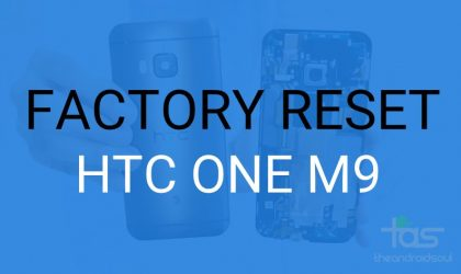 How to Factory Reset HTC One M9