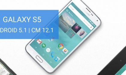 "Sprint and Verizon Galaxy S5 also Gets Android 5.1 update via CM 12.1, all ""klte"" variants supported"
