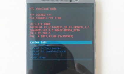 How to Boot into HTC One M9 Download Mode