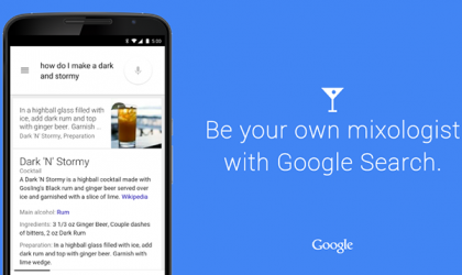 Google Search now shows you how to mix a Cocktail drink!