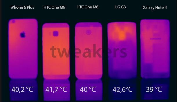 htc one m9 thermal image