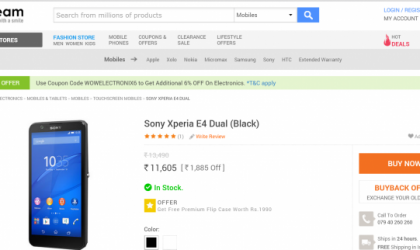 Sony Xperia E4 Dual Goes On Sale in India for Rs 11,605
