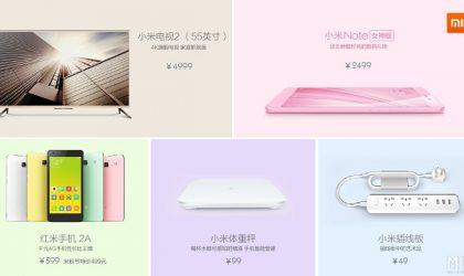 Xiaomi Launches Mi TV 2, Redmi 2A and Smart Devices