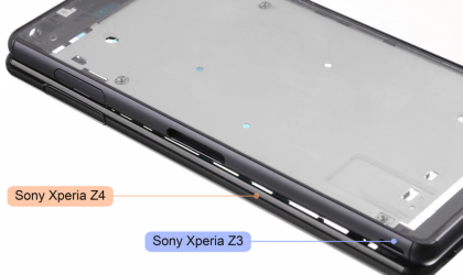 Sony Xperia Z4 with Metal Frame Leaks in Image, Compared to Xperia Z3