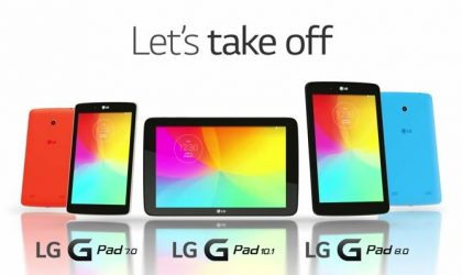 After 8.3, LG G Pad 7.0, 8.0, and 10.1 to get the Lollipop update starting April 12