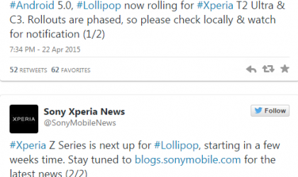 Android Lollipop (19.3.A.0.470) starts seeding for Xperia C3 and Xperia T2 Ultra
