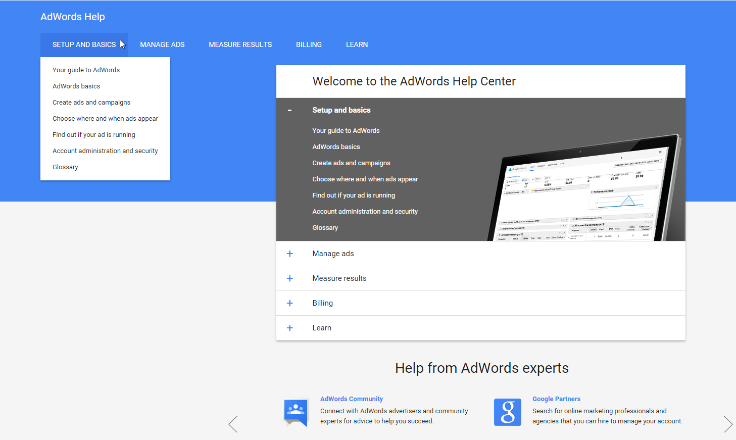 Google AdWords Support Material Design